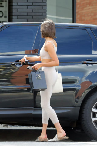 Olivia Culpo in Tights Out Shopping in West Hollywood