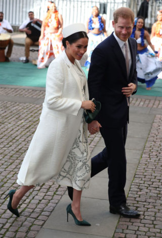 Pregnant Meghan Markle at Westminster Abbey for Commonwealth Service 2019 in London