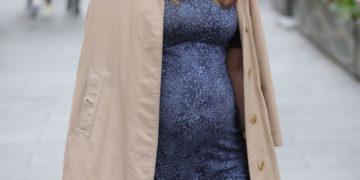 Pregnant Myleene Klass Out in London