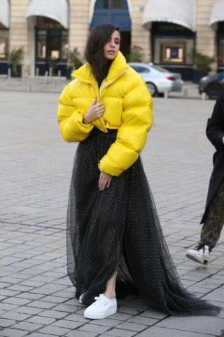 Sofia Carson's Stylish Day Out at Paris Fashion Week