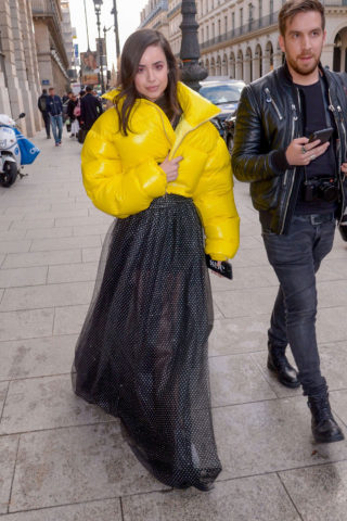 Sofia Carson's Stylish Day Out at Paris Fashion Week