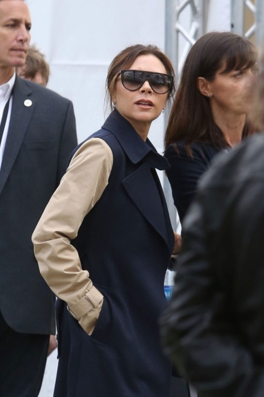 Victoria Beckham Arrives at Dignity Health Sports Park in Carson