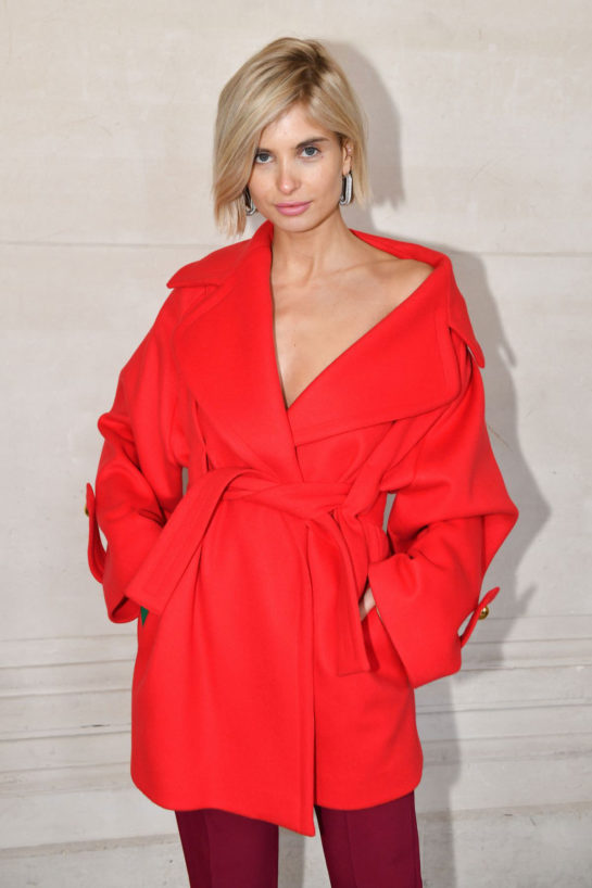 Xenia Adonts at Elie Saab Fashion Show in Paris