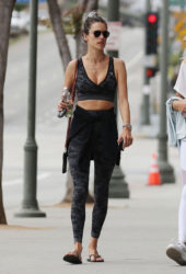 Alessandra Ambrosio Heading to the gym in Los Angeles