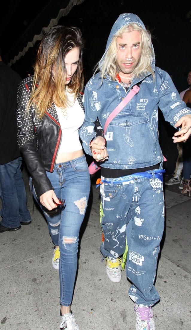 Bella Thorne Celebrates Modsun's Birthday at Warwick in Hollywood