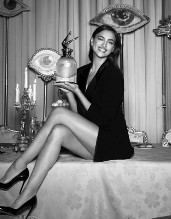 Irina Shayk for Jean Paul Gaultier Scandal a Paris fragrance