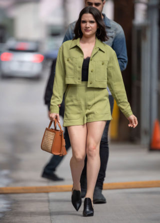Katie Stevens Arrives at Jimmy Kimmel Live in Los Angeles