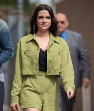 Katie Stevens Arrives at Jimmy Kimmel Live in Los Angeles