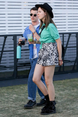 Kerris Dorsey and Dylan Minnette at Coachella in Indio