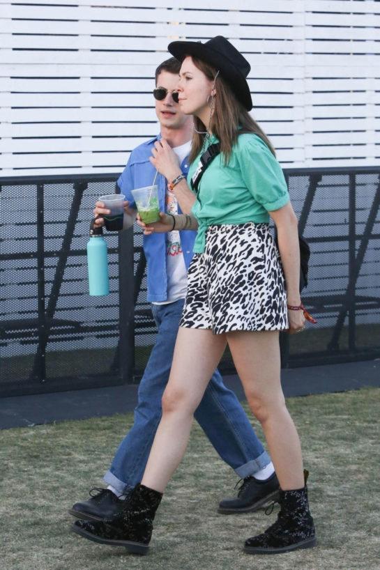 Kerris Dorsey and Dylan Minnette - Coachella in Indio