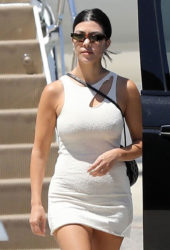 Kourtney Kardashian arrives at Los Angeles