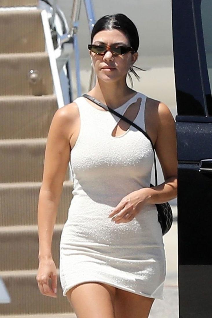 Kourtney Kardashian arrives at Los Angeles