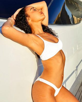"Leigh-Anne Pinnock for ""A"" Seashell Swimwear Collection"