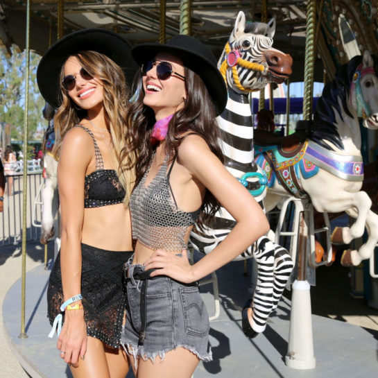 Madison Reed and Victoria Justice at Revolve Party at Coachella