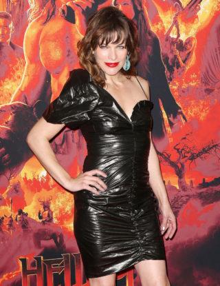 Milla Jovovich at Hellboy Premeire in New York