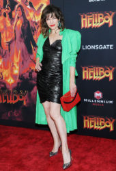 Milla Jovovich at Hellboy Premeire in New York