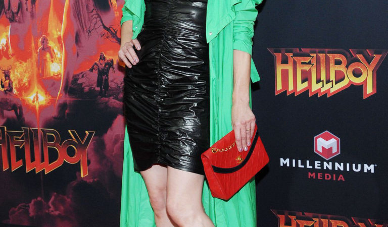 Red Carpet – Milla Jovovich at Hellboy Premeire in New York