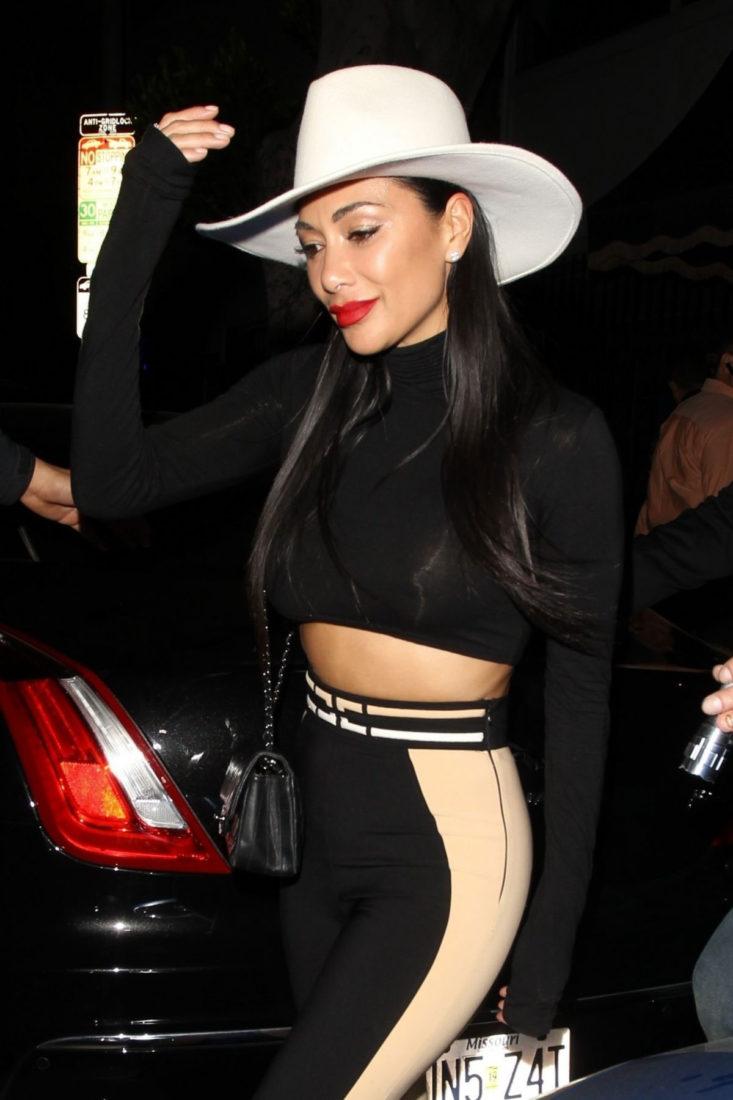 Nicole Scherzinger Leaving Warwick Nightclub in Hollywood