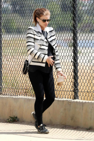Pregnant Kate Mara Out and About in Los Angeles