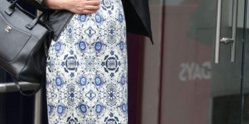 Pregnant Myleene Klass Arrives at Global Radio in London