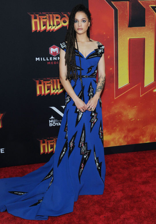 Sasha Lane at Hellboy Premeire in New York