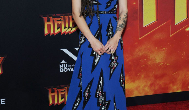 Red Carpet – Sasha Lane at Hellboy Premeire in New York