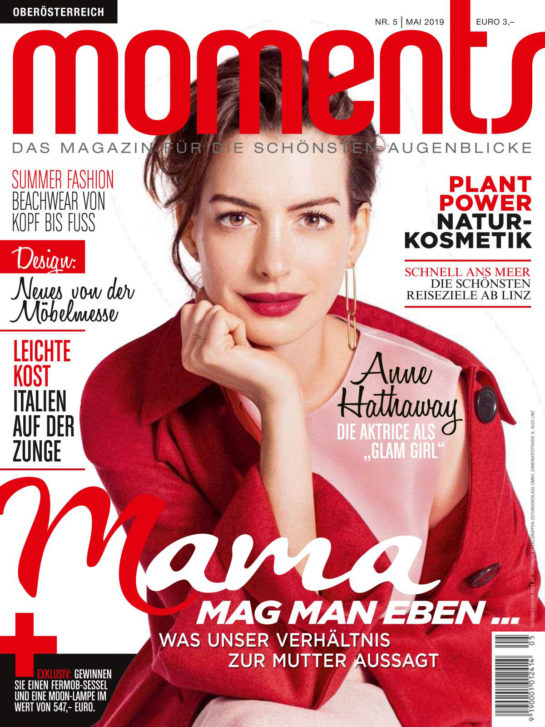 Anne Hathaway in Moments Magazine, Austria May 2019