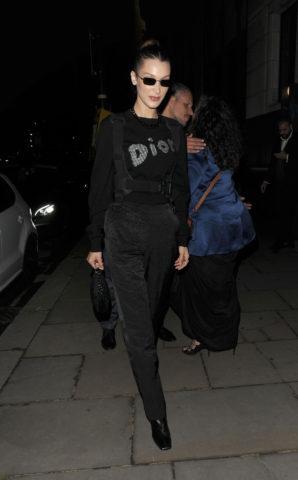 Bella Hadid at Christian Dior Party in London