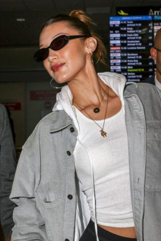 Bella Hadid at Nice Airport