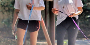 Cara Delevingne and Ashley Benson Out with Their Dogs in Studio City