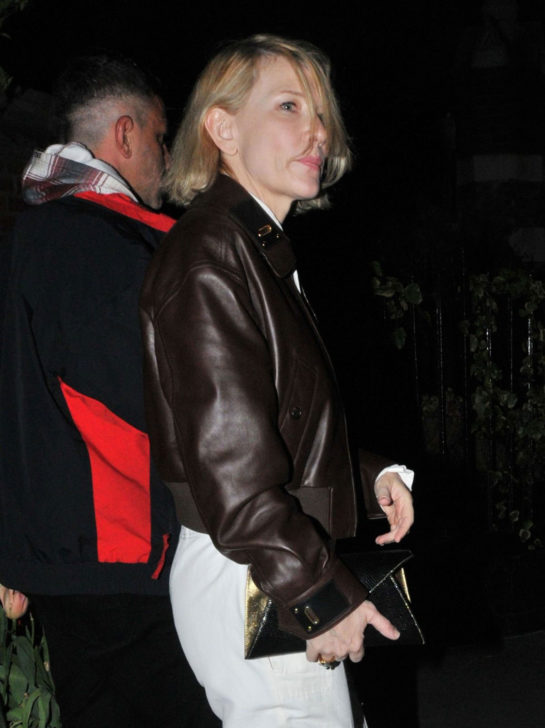 Cate Blanchett Night out in London