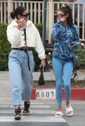 Cindy Kimberly and Chantel Jeffries Out for lunch at Le Pain in West Hollywood