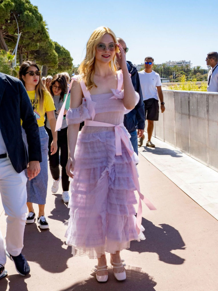 Elle Fanning Out at 72nd Annual Cannes Film Festival