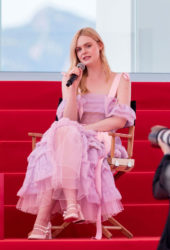Elle Fanning at An Interview on the Croisette in Cannes