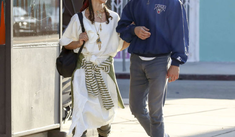 Celebrity Shopping – FKA Twigs and Shia LaBeouf Out Shopping in Los Angeles
