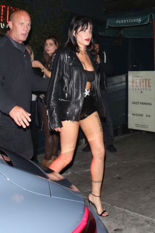 Halsey at Petite Taqueria in West Hollywood