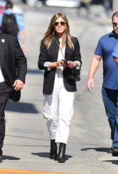 Jennifer Aniston Arriving to Appear on Jimmy Kimmel Live in Hollywood