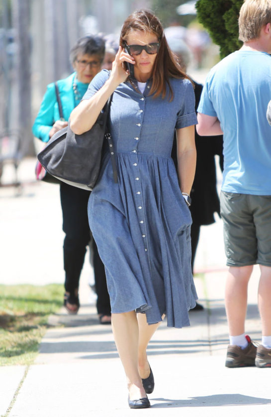 Jennifer Garner at Church Service in Los Angeles