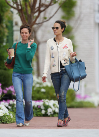Jordana Brewster Goes Out with a Friend in Los Angeles