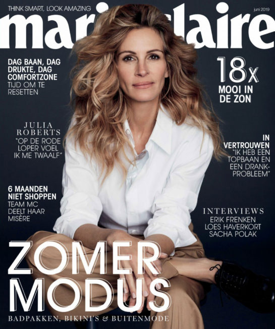 Julia Roberts in Marie Claire Magazine, Netherlands June 2019