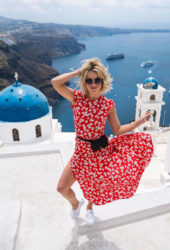 Julianne Hough in Swimsuit on Vacation in Greece, Instagram Pictures