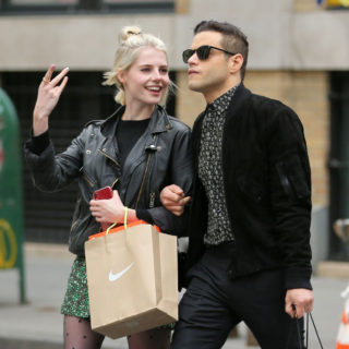 Lucy Boynton and Rami Malek Out Shopping in New York