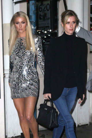 Paris and Nicky Hilton Out in New York