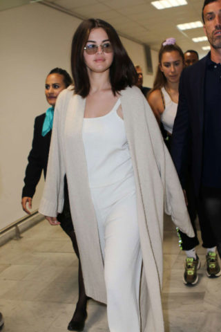 Selena Gomez Arrives at Nice Airport in France