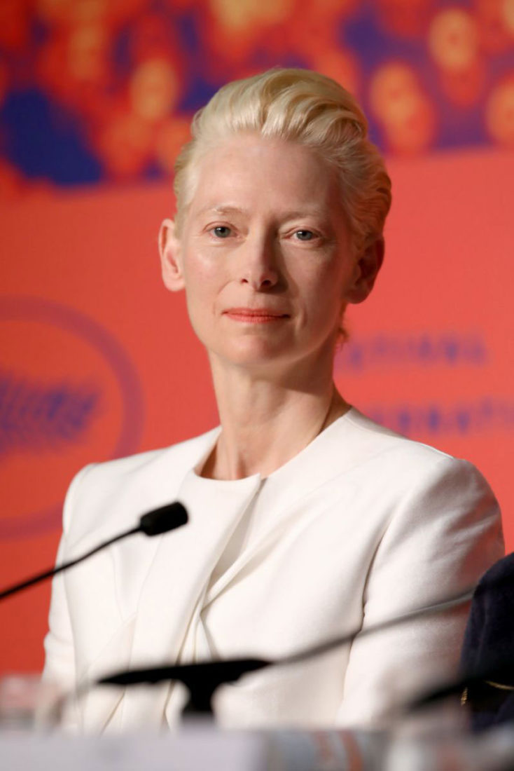 Tilda Swinton at The Dead Don't Die Press Conference in Cannes
