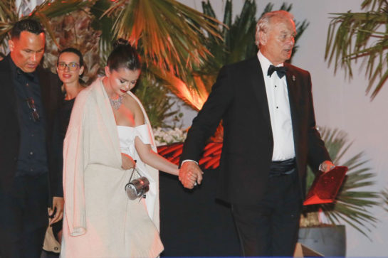 Selena Gomez and Bill Murray Leaves Agora Restaurant in Cannes