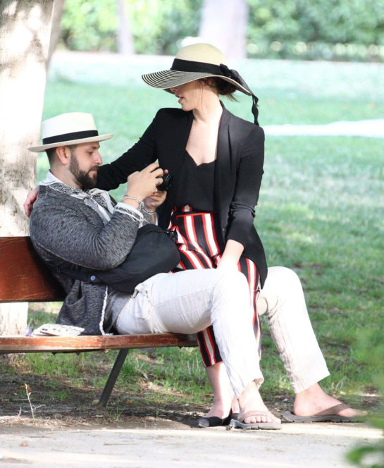 Ashley Greene and Paul Khoury at El Retiro Park in Madrid
