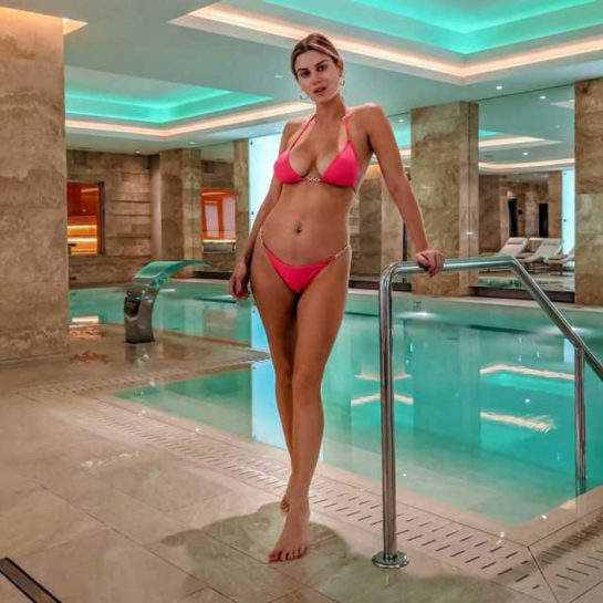 Ashley James in Bikini at Grand Hotel Kempinski in Riga