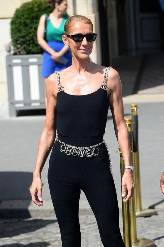 Celine Dion Leaving the Hotel De Crillon in Paris