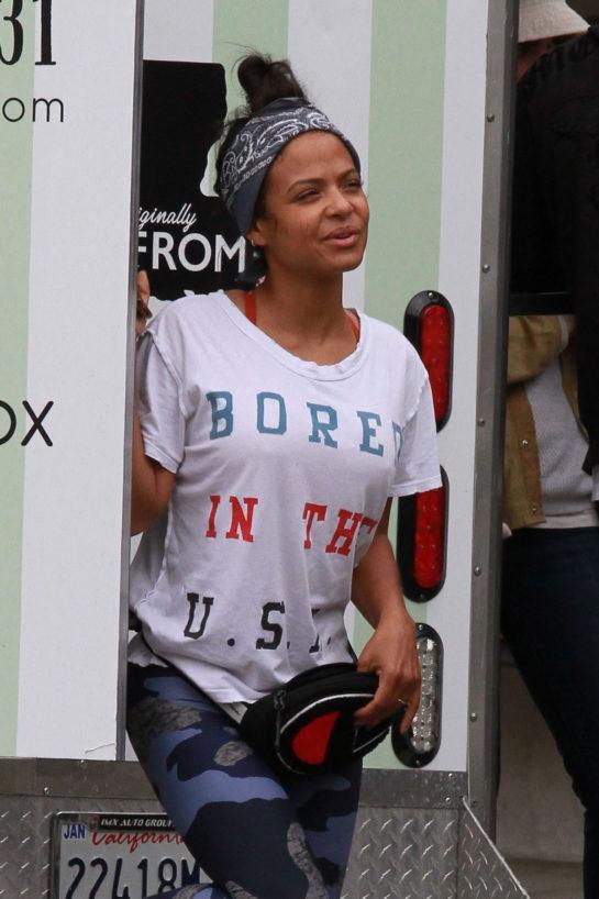 "Christina Milian at Her Food Truck ""Beignet Box"" in Studio City"
